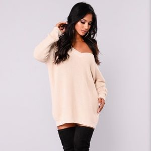 Marianna Lace Up Sweater - Fashion Nova